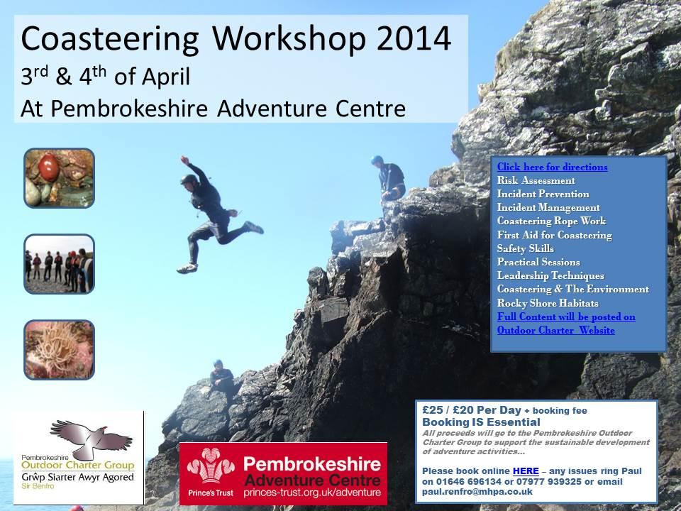 Coasteering Workshop 2014