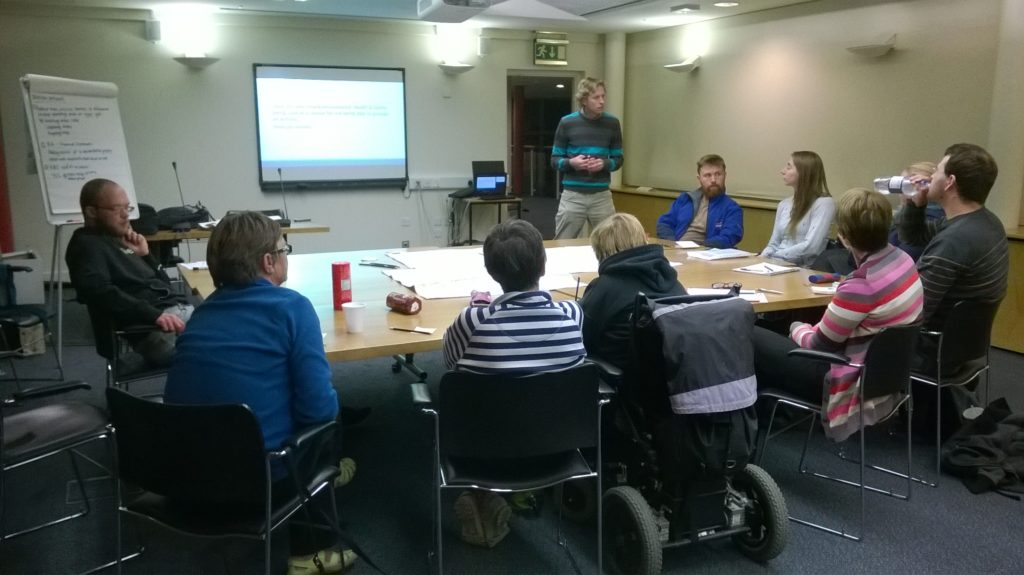 Discussing current barriers to accessing adventure activities with local stakeholders